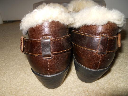 Brn Leather Shearling brown Boots
