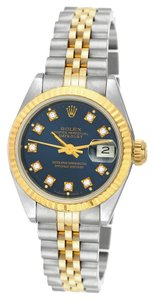 Rolex Rolex Datejust Stainless Steel and 18K Gold Custom Diamond Laides Watch