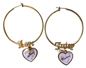 Juicy Couture Juicy Couture Gold Hoop Cute Earrings