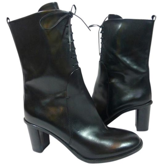 Attilio Giusti Leombruni Leather Lace Up Black Boots