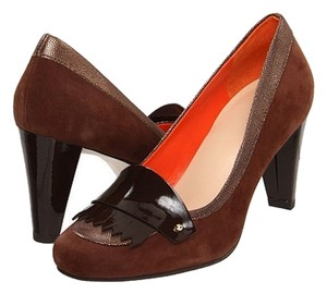 Cole Haan Suede Loafer Chestnut Pumps