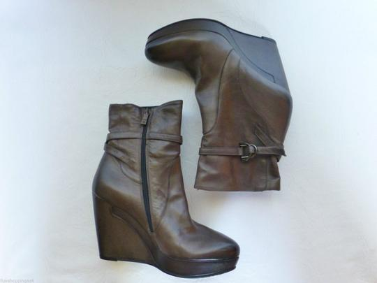 Alberto Fermani Wedge Ankle Gray Boots