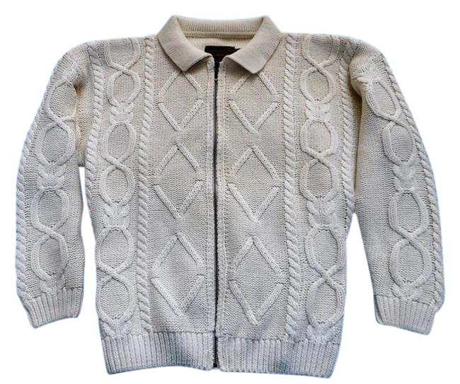Preload https://item4.tradesy.com/images/eddie-bauer-cream-cable-knit-cardigan-size-petite-4-s-532903-0-2.jpg?width=400&height=650