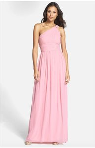 Donna Morgan Blush Chiffon 'rachel' Formal Bridesmaid/Mob Dress Size 4 (S)