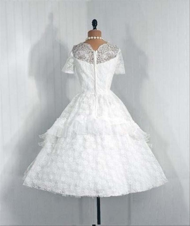 1950s vintage tea length wedding dress wedding dress tradesy for Best way to sell used wedding dress