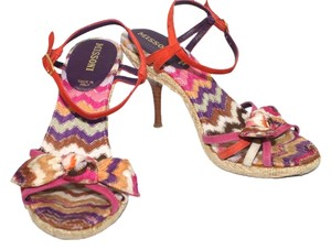 Missoni Italy Heels 6 Ballet MULTICOLOR Sandals