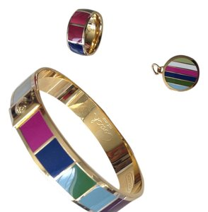 Coach COACH Legacy Stripe bangle, ring and charm set