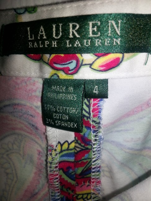 Ralph Lauren Straight Pants white with multiple colors
