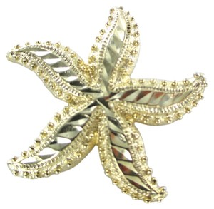 14K SOLID YELLOW GOLD PENDANT NO SCARP STARFISH STAR 8.8 GRAMS SEA OCEAN MARINE