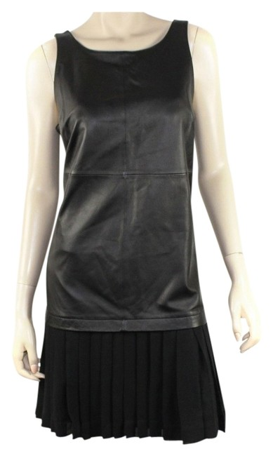 Preload https://img-static.tradesy.com/item/5330578/elizabeth-and-james-black-lambskin-above-knee-cocktail-dress-size-10-m-0-0-650-650.jpg