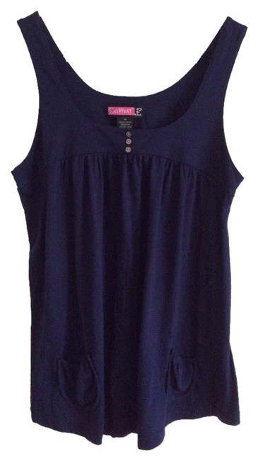 Preload https://item1.tradesy.com/images/say-what-tank-top-blue-5330635-0-0.jpg?width=400&height=650
