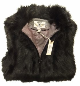 Diesel Fur Coat Faux Fur Vest