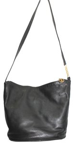 Paloma Picasso Black Leather Shoulder Bag