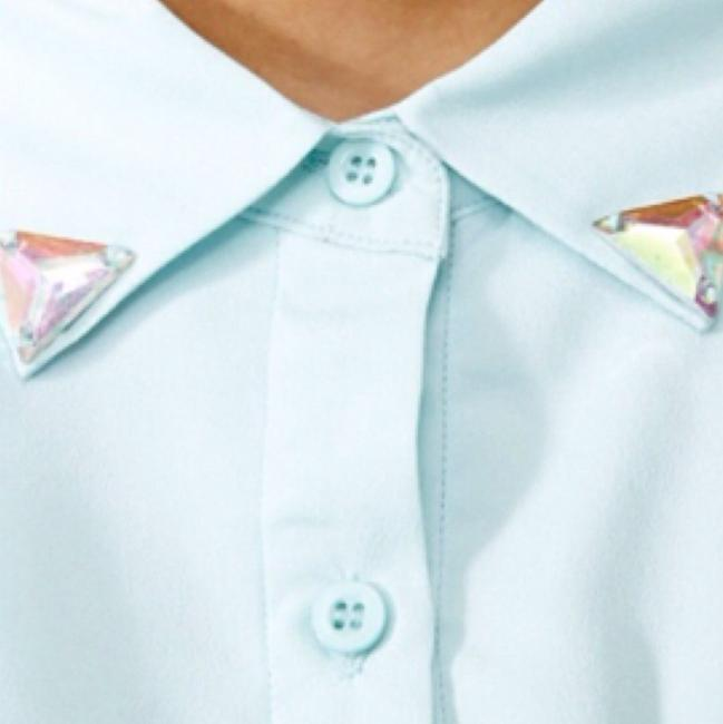 Nasty Gal Button Down Shirt Baby blue