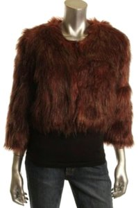 INC International Concepts Faux Fur Fur Fur Coat