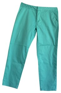Garnet Hill Straight Pants Greenish turquoise.