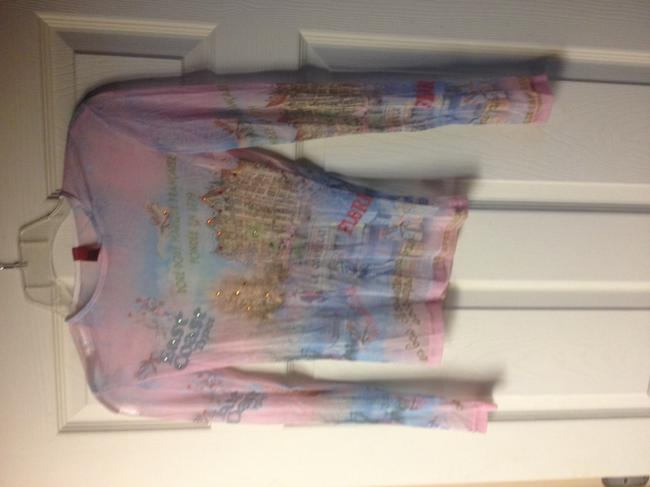 Just In Thyme Sheer Longsleeve Sparkle Top