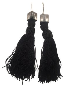 Color by Amber Black Tassel Earrings