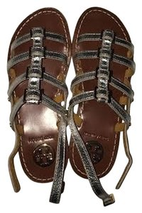Tory Burch Flipflops Leather Gladiator Brandnew Silver Sandals