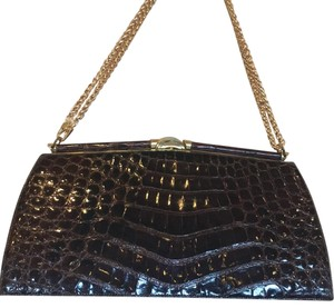 Vintage glazed alligator bag Crocodile Crocodile Exotic Skin Nancy Gonzalez Shoulder Bag