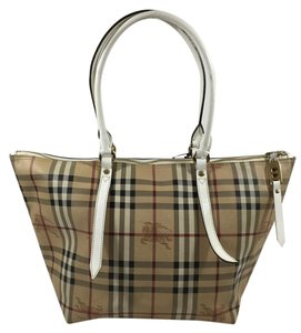Burberry Salisbury Leather Double Tote in Beige