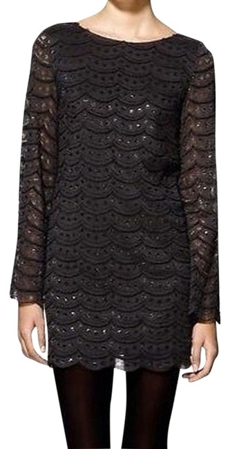 Ark & Co. Micro-mini Lace Little Bell Sleeve Shift Dress