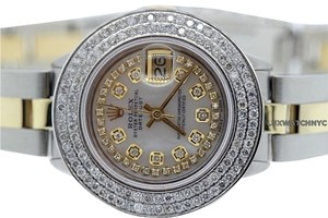 Rolex Ladies Rolex Datejust 2-Tone Diamond Watch with Rolex Box & Appraisal