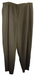 Worthington Trouser Trouser Pants Black white pinstripe