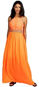 Orange Maxi Dress by