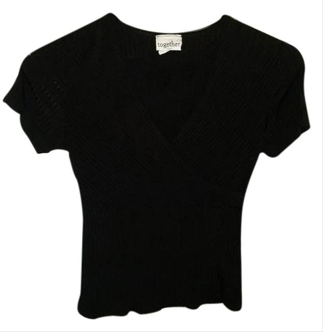 Preload https://item2.tradesy.com/images/together-black-faux-wrap-blouse-size-2-xs-5334076-0-0.jpg?width=400&height=650