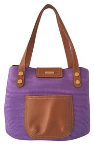 Eric Javits Tote in Purple Brown