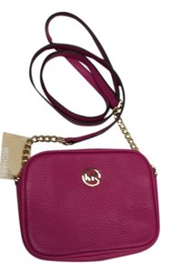 Michael Kors Leather Chain Accents Cross Body Bag