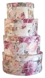 Other Set of 5 Floral Round Stacking Hat Boxes