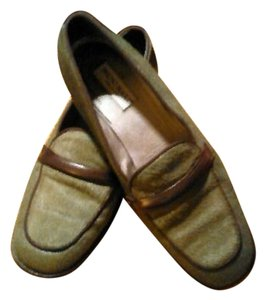 Bruno Magli Pony Hair Leather Green Flats