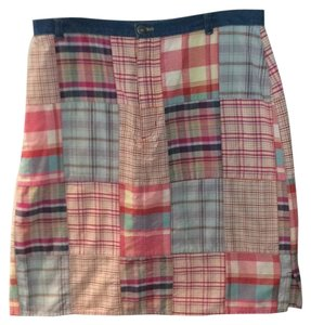 Liz Claiborne Skirt Madras plaid