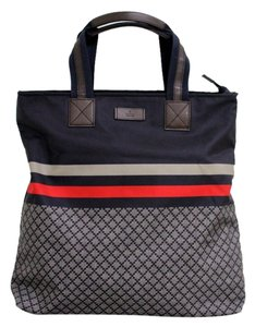Gucci Unisex Mens Diamante Tall Travel Blue Brb Tote