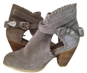Madison Harding Lust For Life Coachella Buckle Cut-out Comfortable Cowboy Silver Hardware Grey Designer Leather Fall Sand Suede Boots