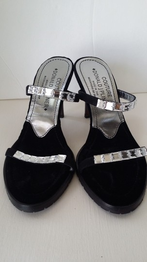 Donald J. Pliner Crystal Suede Black Formal Image 3