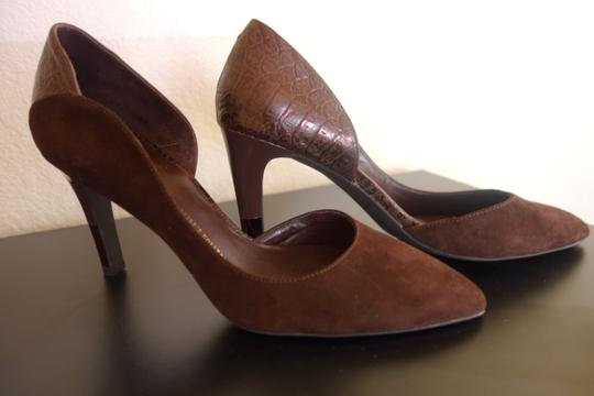 Franco Sarto Purple,Dark Brown Pumps