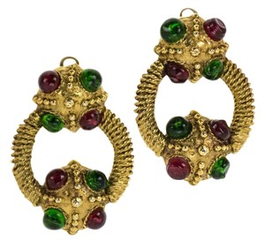 Chanel Chanel Vintage Gold Hoop Earrings