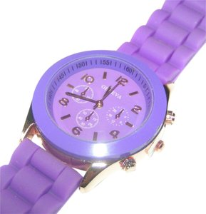 Geneva Purple sports watch free shipping