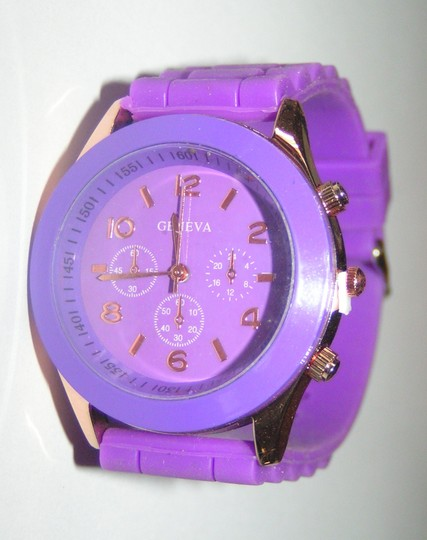 Geneva BOGO Purple sports watch free shipping Image 1