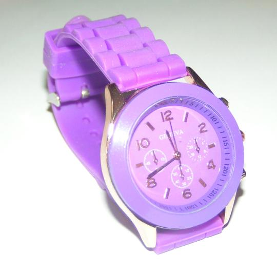 Geneva BOGO Purple sports watch free shipping Image 4