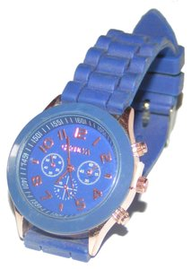 Geneva Blue Sports Watch Free Shipping