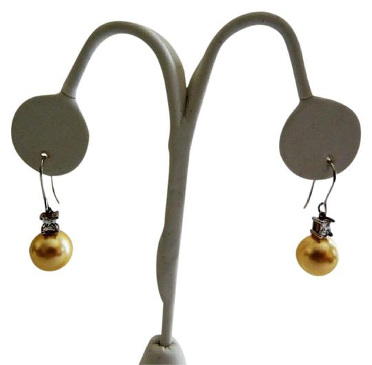 Pearlfection Pearlfection Faux Golden South Sea Pierced Pearl Earrings Image 0