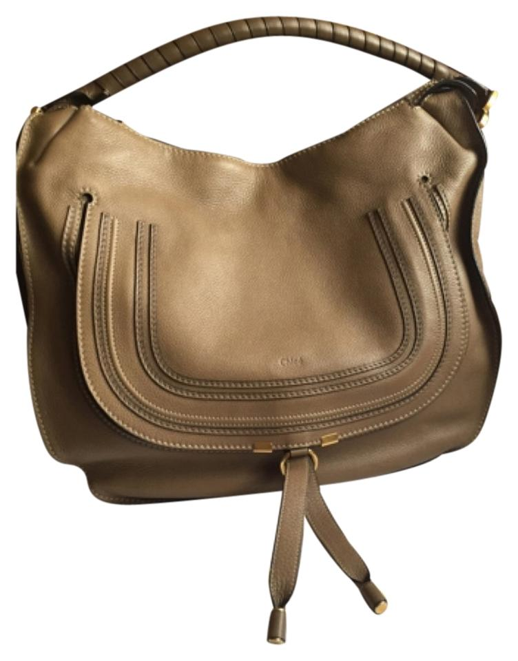4fed9d07 Chloé Marcie Large Nut Pebbled Leather Hobo Bag 46% off retail