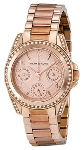 Michael Kors Crystal Dial Stainless Steel Boyfriend Ladies Watch