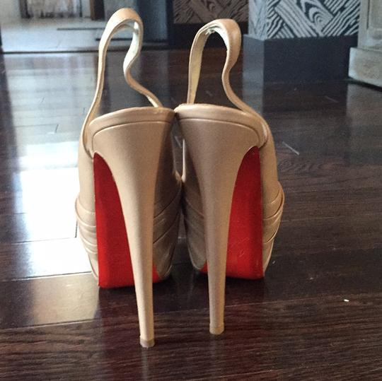 Christian Louboutin Nude Leather Platforms