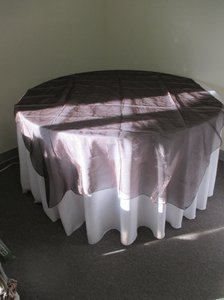 Brown Organza Table Overlay