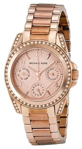 Michael Kors Crystal Dial Rose Gold Ladies Stainless Steel Dress Watch